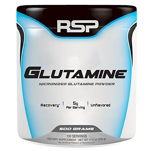 RSP Nutrition - Pure Micronized Glutamine Powder, Muscle Recovery Support for Men and Women, 500 grams (Glutamine Powder Micronized)