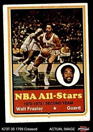 100% authentic 3b25b 84d48 Amazon.com: 1973 Topps # 10 Walt Frazier New York Knicks ...