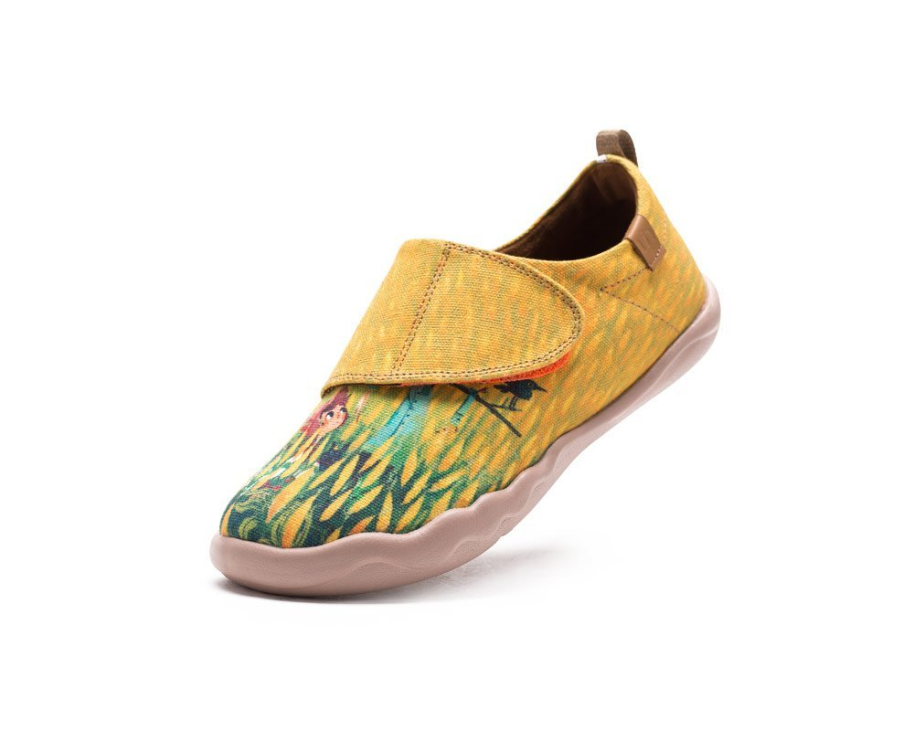 UIN Kid's Scarecrow Painted Slip on Canvas Shoe Yellow (Big Kid) (12.5)