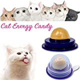Cat Treats Sugar Ball Cat Vitamin Mint Rounded Toy Cat Solid Energy Candy Pet Toy Ball Snack Nontoxic Kitten Licking Snack Solid Nutrition Gel Energy Ball Cat Toy(2Pcs)