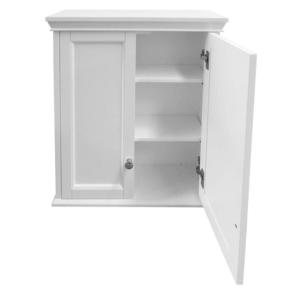 Foremost trww2428 haven 24 w wall cabinet in white 0721015363781 buy new and used home for Foremost corsicana 24 in bathroom wall cabinet