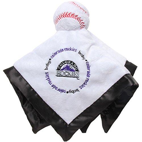 Rockies Plush Colorado (Colorado Rockies Black Baby Security Snuggle Bear Blanket - 14