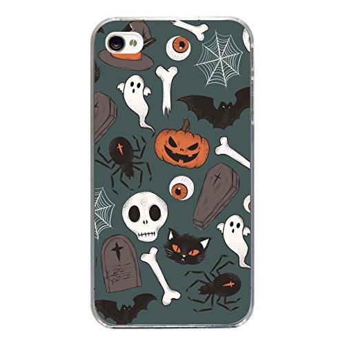 """Disagu SF-sdi-3814_1212#zub_cc2455 Design Schutzhülle für Apple iPhone 4 - Motiv """"Halloweenmuster 04"""""""