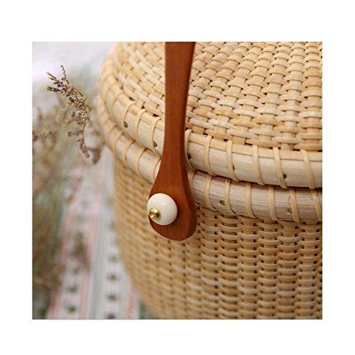 Main Trend élégant Retro De Rustique Rotin Style Simple à Beige Sacs Tisséà Paniers Individual Dames La Main qxHZww7v