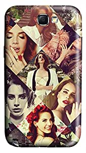 American Pop Singer Lana Del Rey PC Hard new note2 case