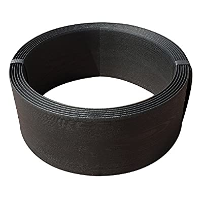 Abba Patio Edging Coil Recycled Plastic and Wood Composite Fence Garden Landscape Border