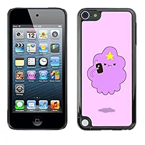 FECELL CITY // Duro Aluminio Pegatina PC Caso decorativo Funda Carcasa de Protección para Apple iPod Touch 5 // Angry Cloud Star Art Drawing Cartoon