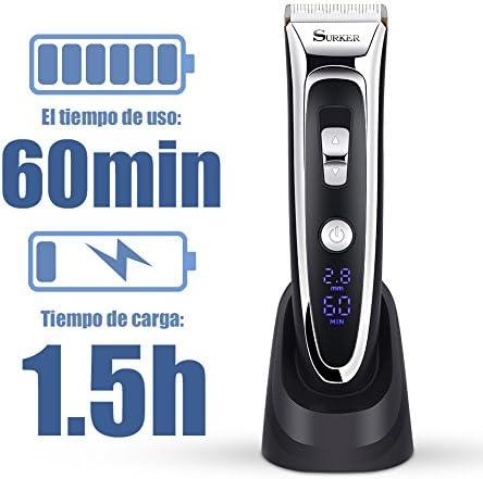 Maquina Cortapelo Cortapelos Electrónico Pantalla LED Cuchilla de ...
