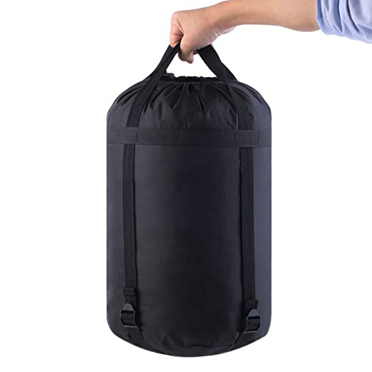 SODIAL Bolsa sacos de compresion de nylon Saco bolsa de compresion de almacenamiento de cosas bolsa de dormir: Amazon.es: Deportes y aire libre