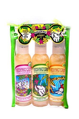 Hawaiian Bubble Shack Bungalow Woof Dog Wash Gift Pack Three