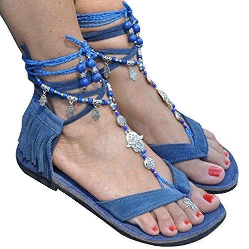Zapatos Mujeres Elegant Jianhui Romanoas Casual Lace Sandalias Moda De Zapatos Flip Verano Borlas Playa up Sandalias De Zapatos Verano Flop Casuales Zapatos CaYwYd0q