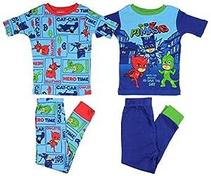 """PJ Masks Boys """"Pajamas Heroes""""4- Piece Cotton Pajama Set"""