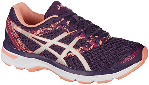 ASICS Womens Gel-Excite 4 Running Shoe, Grape/Silver/Begonia Pink, 7.5 B(M) US