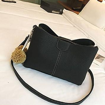2a03179570 Female Wild Messenger Bag Fashion Litchi Pattern Hair Ball Portable  Shoulder Bag