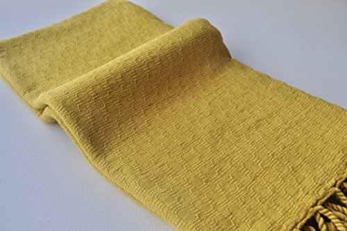 Turkish towel stone washed hand loomed damier peshtemal towel for beach and bath Turkish blanket in mustard color,soft,genuine hand loomed