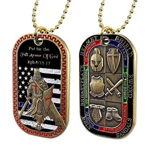 Put on The Whole Armor of God Dog Tag Pendant Necklace