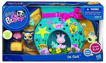 Amazon.es: Littlest Pet Shop Sea Shack - Casa acuario de juguete con 2 animales (cangrejo lila 2091 y pez globo verde 2092): Juguetes y juegos