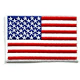 FLAG004 - American Flag Patches - Usa flag Patch - Applique Embroidered patches - Iron on Patches - Backpack Patches - Size 9 x 5.5 Cm.