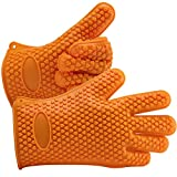 WONTECHMI BBQ Gloves, Ultra Thick and Waterproof, Heat Resistant Barbecue Grilling Cooking Gloves for Barbeque, Oven, Cooking, Frying, Baking, Smoking, Potholder, Garden, Mother's Day Gift