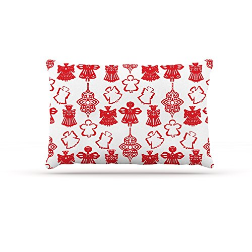 30 by 40\ Kess InHouse Miranda Mol Angels Singing White  Red Holiday Fleece Dog Bed, 30 by 40