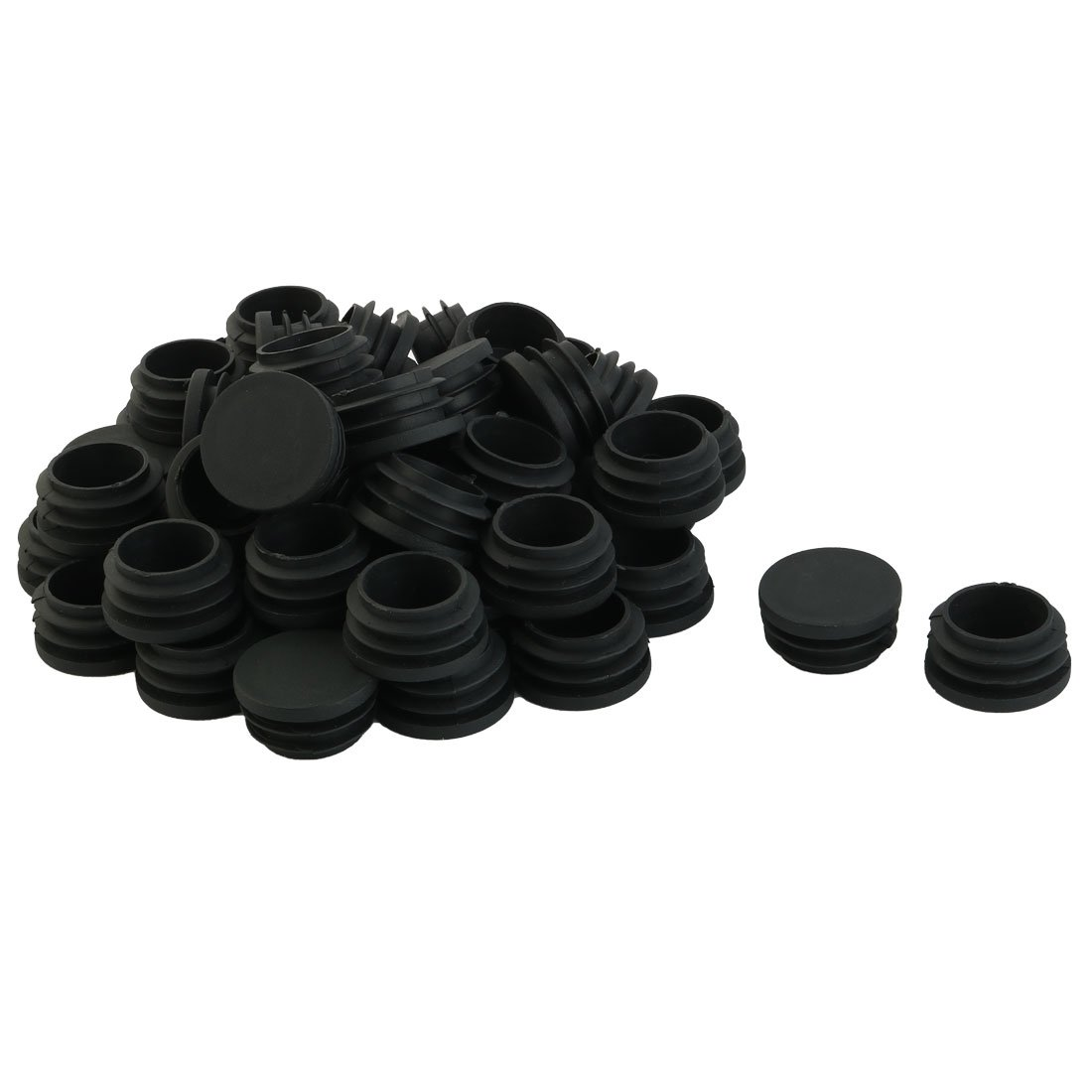 uxcell Plastic Chair Table Legs Hole End Cap Round Tube Insert 32mm Diameter 50pcs a15090900ux0692