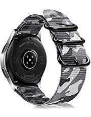 Bands Compatible with Galaxy Watch 46mm / Gear S3, Fintie Soft Woven Nylon 22mm Band Adjustable Replacement Sport Strap with Metal Buckle Compatible with Samsung Galaxy Watch 46mm / Gear S3 Classic Frontier
