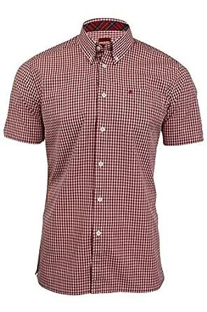 Merc - Camisa Casual - Cuadrados - Manga Corta - para Hombre ...