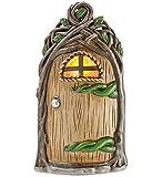Lighted Fairy Door Garden Accent, Vine