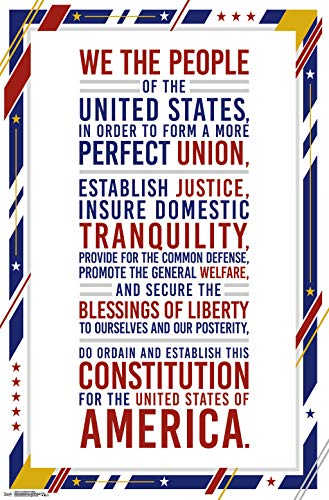 Trends International U.S. Constitution Preamble Wall Poster 22.375