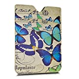 kwmobile Artificial Leather Sleeve Case for Amazon Kindle Paperwhite - eReader protective case with Vintage Butterflies