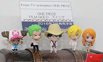 Bandai One Piece OVA Movie Film Stampede Key Chain Swing Figure Luffy