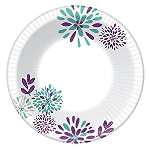 Dixie Everyday Paper Bowls, 10 Oz, 324 Count, 9 Packs of 36 Bowls, Dessert or Light Lunch Size Printed Disposable Plates
