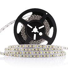 LEDMO Flexible LED Strip Lights,Super Bright 600 LEDs, Non-Waterproof, DC12V LED Light Strips,Daylight White 6000K,16.4Ft/5M, 15 Lumens/ft, 2.2 watts/ft, LED Tape For Gardens/Homes/Kitchen/Cars/Bar