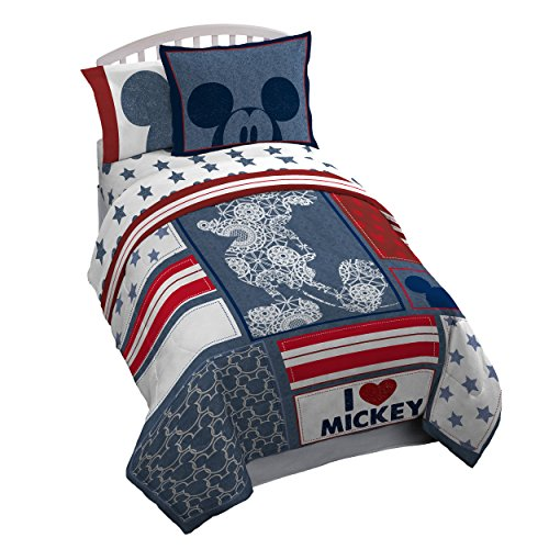 Disney Mickey Mouse Americana 4 Piece Twin Bed In A Bag from Jay Franco
