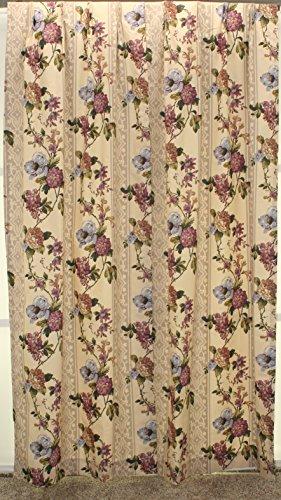 Sandra Floral Thermal Pinch Pleat Drape Pair 48Wx84L