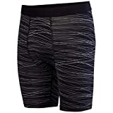 Augusta Sportswear AG2616 Boys' Hyper Form Compression Short, Medium, Black/Graphite Print
