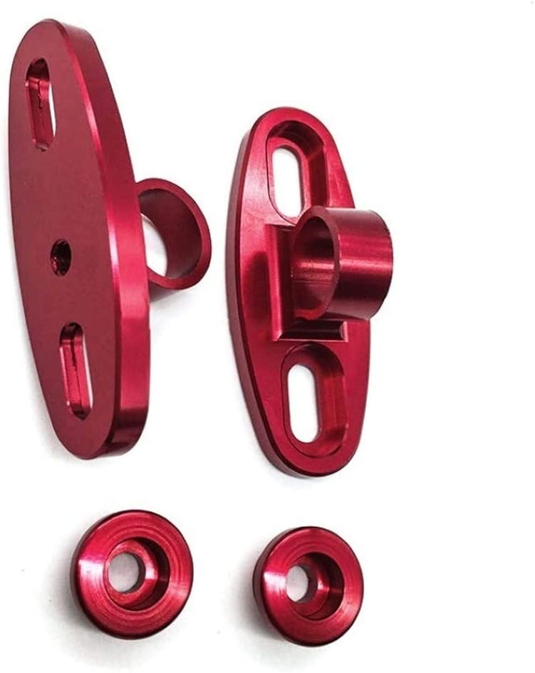Wang shufang WSF-Rearview Mirrors, 1pair Mirror CNC Aluminum Holder Adapters Motorcycle Fairing Universal Mirror Mounts Assembly Ware Modifid 5 Color (Color : Red)