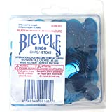 Bingo Chips Heavy Blue Colour 200 Count Bicycle Brand