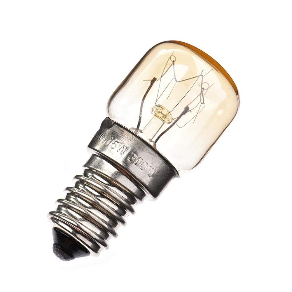 110-120Lumens Oven Light Bulb(4-Pack) Positive Clear Glass Oven Bulb High Temp Xeroy Appliance Oven Refrigerator Bulbs,4X 25w 300/° Degree E14 Appliance Light Bulb