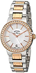 Rotary Women's lb90083/02l Analog Display Swiss Quartz Two Tone Watch