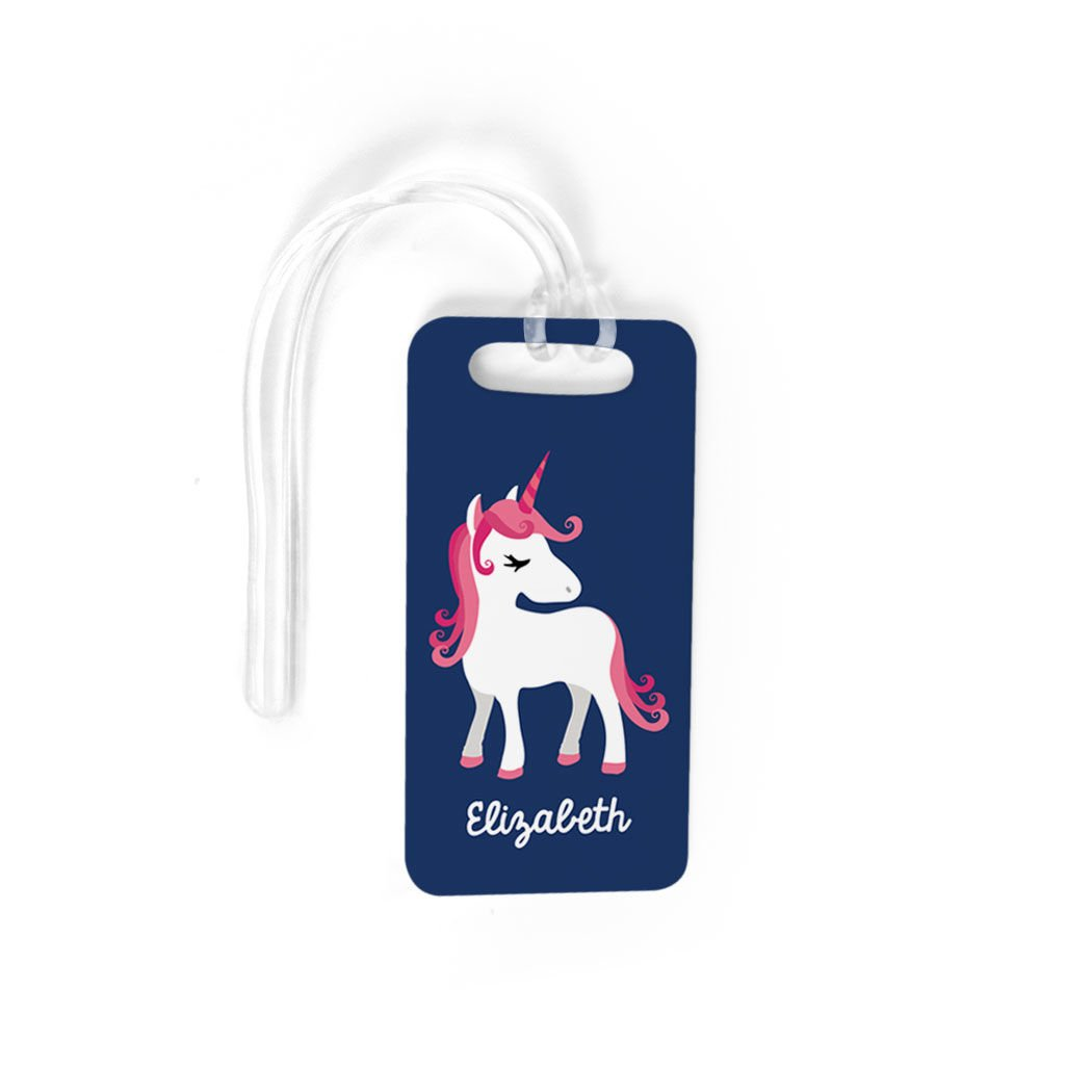 LARGE Personalized Luggage /& Bag Tag Standard Lines on Back Personalized Unicorn