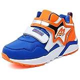 U-MAC Boys Velcro Casual Walking Sneakers Breathable Mesh Running Shoes kids MD Sole(Little Kid/Big Kid)