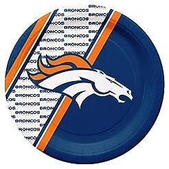 NFL Denver Broncos Disposable Paper Plat...