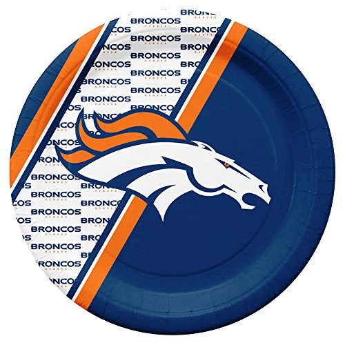 NFL Denver Broncos Disposable Paper Plates, Pack of 20 -