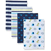 Gerber Baby 4 Pack Flannel Burp Cloth, Safari, One Size