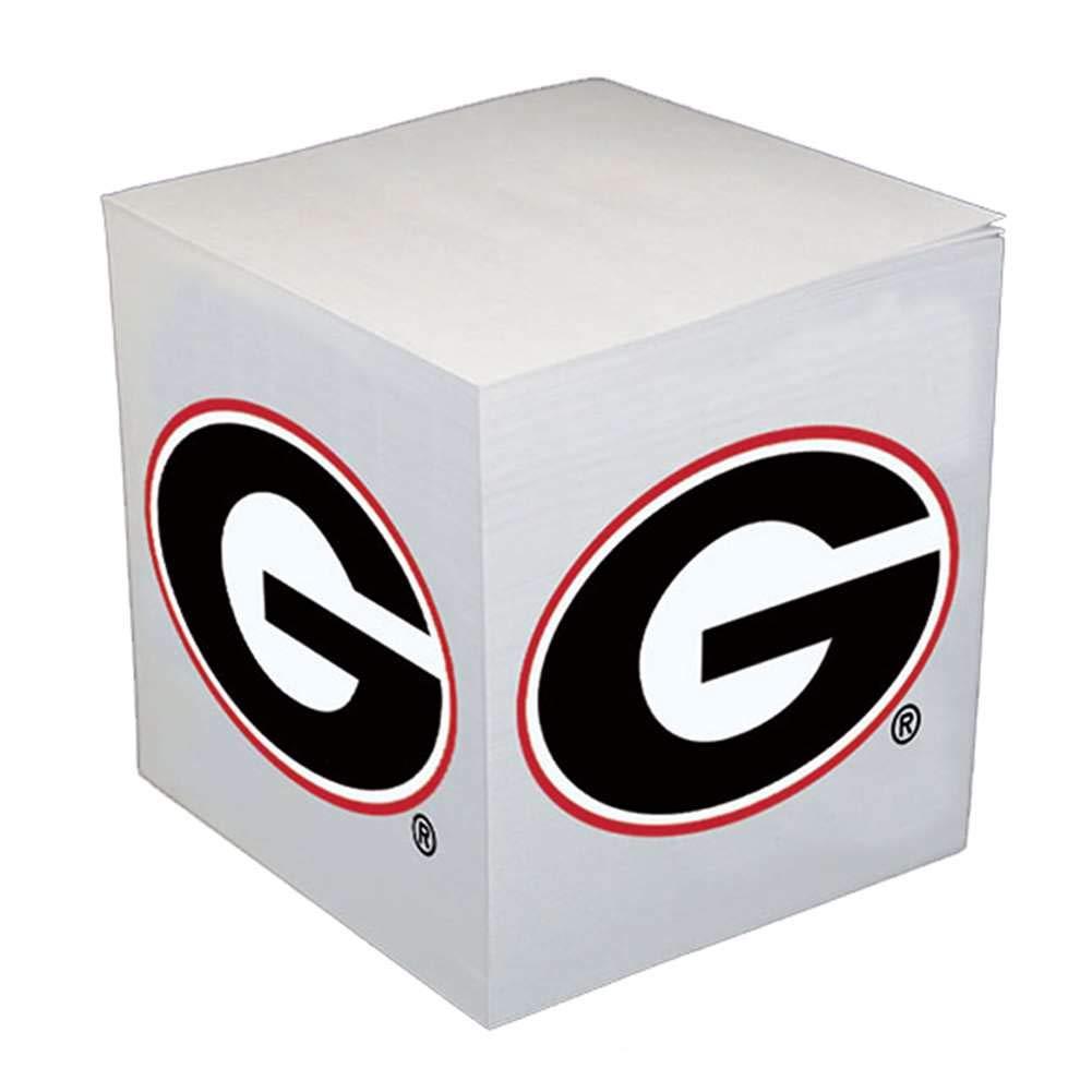 Georgia Bulldogs Sticky Note Memo Cube - 550 Sheets