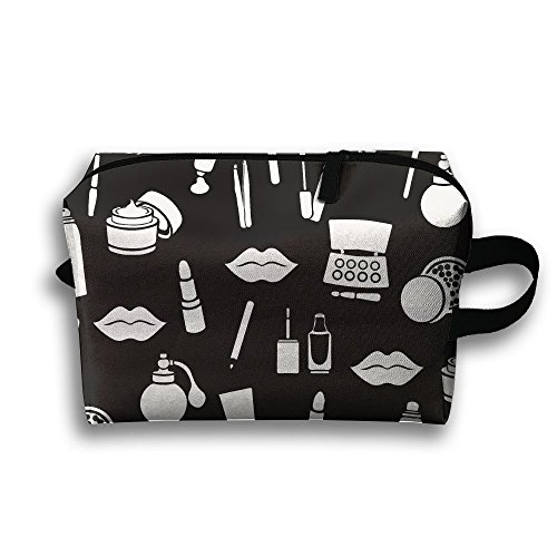 (Travel Buggy Bag Toiletry Pouch Toiletry Bag Cosmetic Accessories White Products Printing Zipper Clutch Bag Travel)