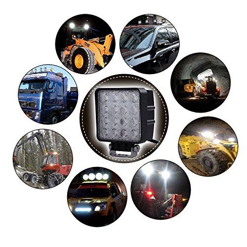 AFTERPARTZ D4 2 F1 48 W LED Work Light Reflector Car Lighting Headlight Work Light Flood Light F1 Flood