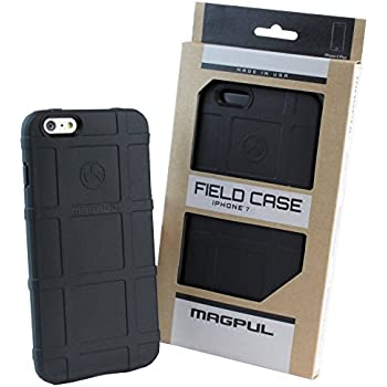 """iPhone 7 Case, iPhone 8 Case, with TJS [Tempered Glass Screen Protector], Magpul [Field] MAG845 Polymer Case Cover Retail Packaging For Apple iPhone 7/iPhone 8 4.7"""" inch (Black)"""