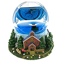 School House Theme Water Prism Image Clock